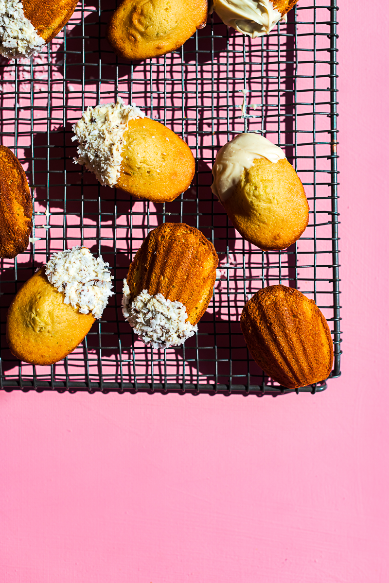 Olive Oil and Lime Madeleines