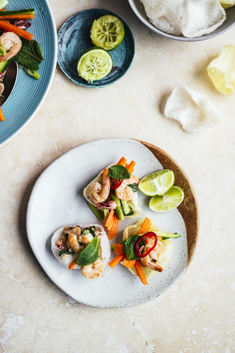 Prawn and Calamari Salad and Feasting off the Beaten Track in Vietnam