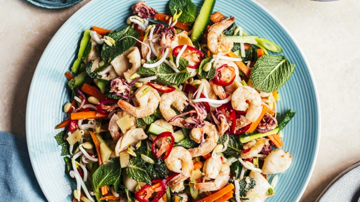 Prawn and Calamari Salad and Feasting off the Beaten Track in Vietnam