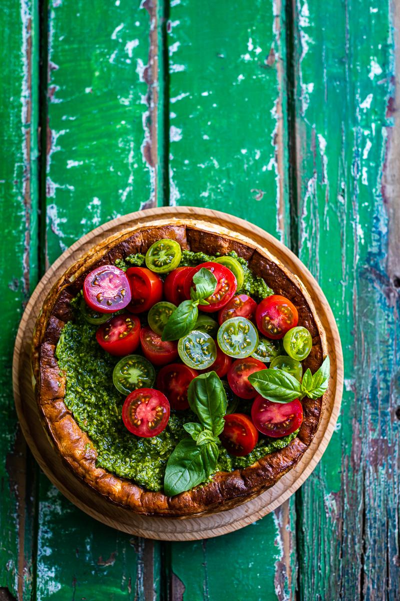 Baked Ricotta & Tomato Tart