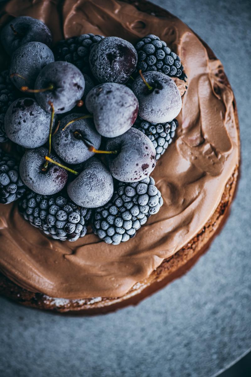 Crispy Chocolate Cake With Hazelnut & Sour Cream