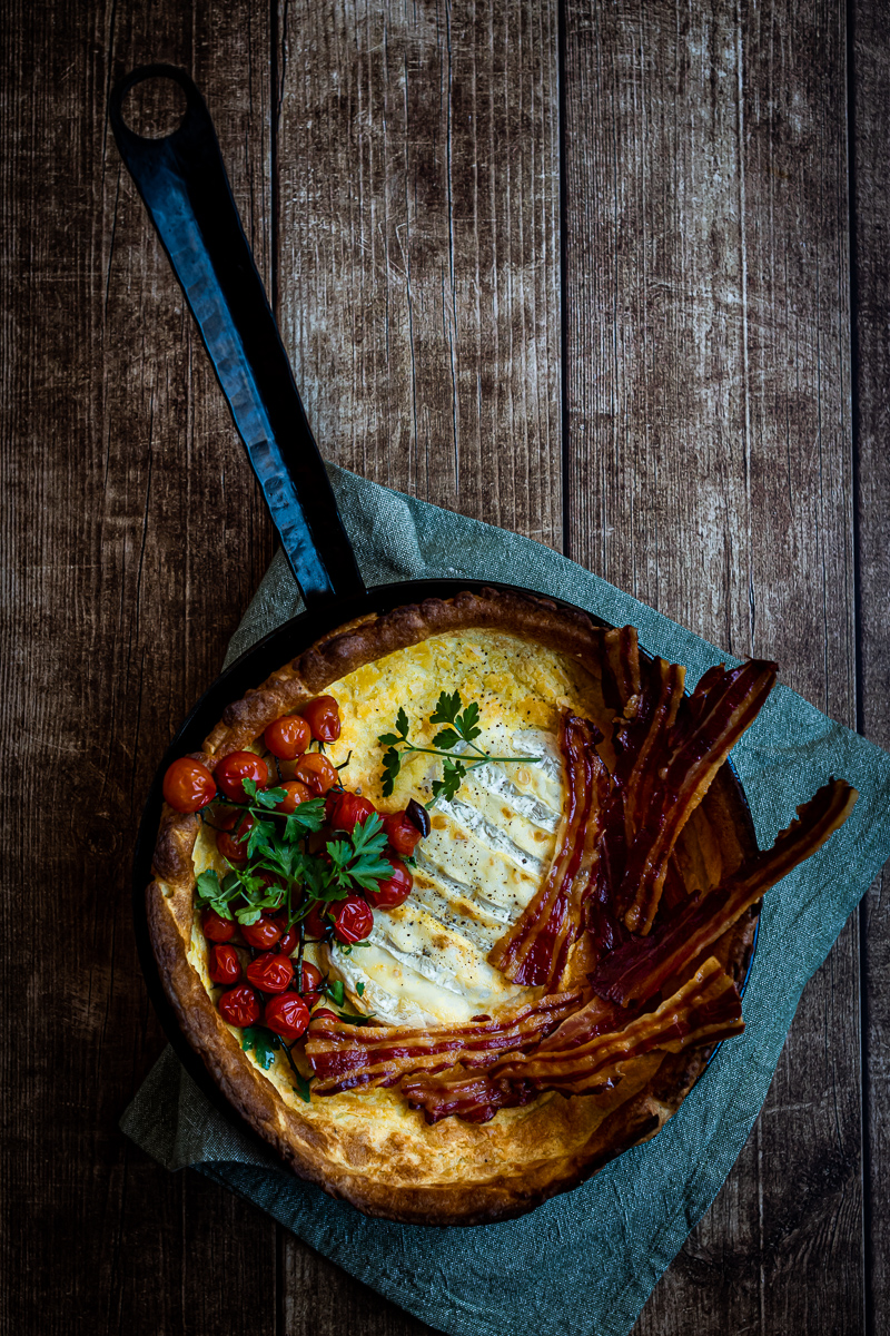 Two Cheese Dutch Baby with Bacon - by Hein van Tonder ...