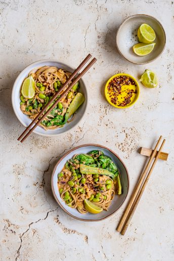 Spicy Salmon Noodles