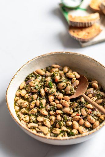 Butter Beans with Salsa Verde