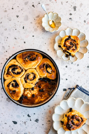 Rum and Raisin Sticky Buns
